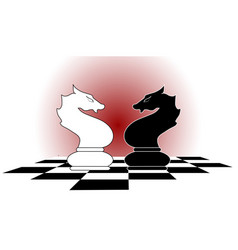 Chess horses vector