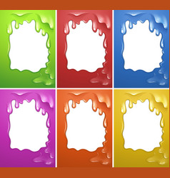 Frame design with watercolor melting vector