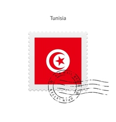 Tunisia flag postage stamp vector