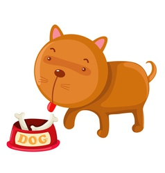 Hungry dog vector