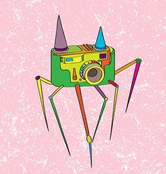 strange camera vector image