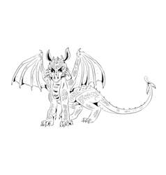 Graphic cub dragon vector image