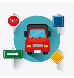 Transport traffic and vehicles design vector