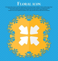 Turn to full screen floral flat design on a blue vector
