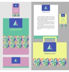 Template logo and corporate identity vector