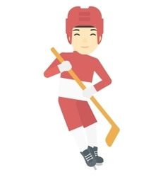 Ice-hockey female player vector