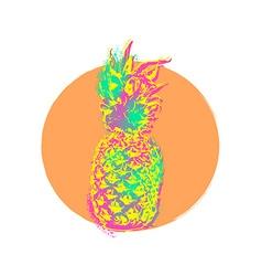 Pineapple fruit colorful art design for summer vector