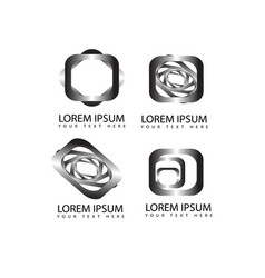 Abstract square shapes logo symbols and icons vector