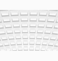 Abstract white tech paper squares background vector