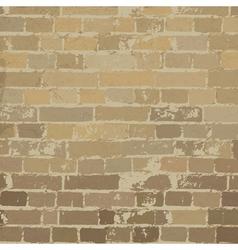 beige brick wall texture vector image vector image