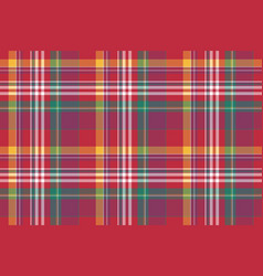Check colored plaid madras seamless background vector