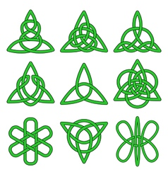 Collection of celtic knots vector