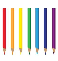 Colored pencils rainbow vector