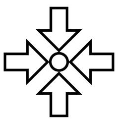 Compress arrows outline icon vector
