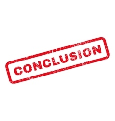 Conclusion text rubber stamp vector