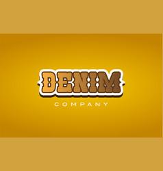 Denim western style word text logo design icon vector