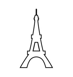 eiffel tower black color icon vector image