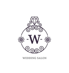 Elegant wedding monogram vector image