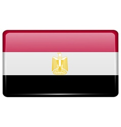 Flags Egypt in the form of a magnet on vector image vector image