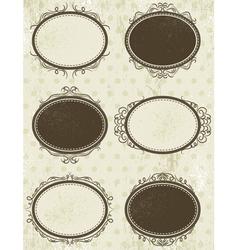Floral decorative frames vector