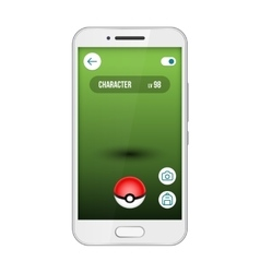 Game app screen pokemon smartphone vector