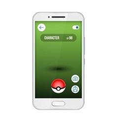 Game app screen pokemon smartphone vector image
