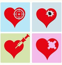 heart 1 vector image vector image