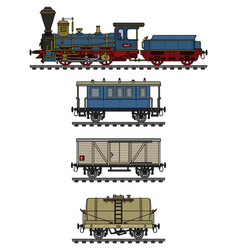 historical steam train vector image