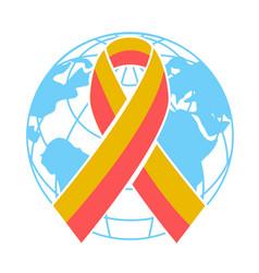 Icon world hepatitis day vector
