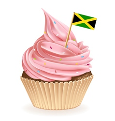 Jamaican cupcake vector