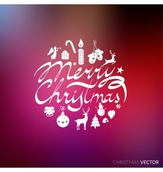 Merry Christmas lettering typography Text design vector image vector image
