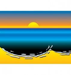 oil slick pollution vector image