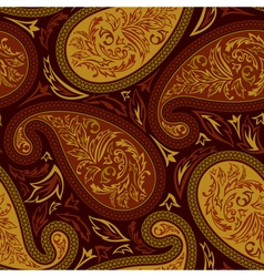 Oriental paisley seamless pattern vector image