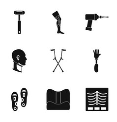 Orthopedic prosthetic icon set simple style vector