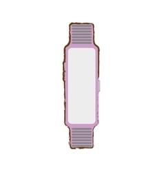 Pink smart watch wearable technology modern style vector