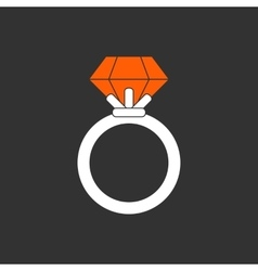 Ring with ruby vector image