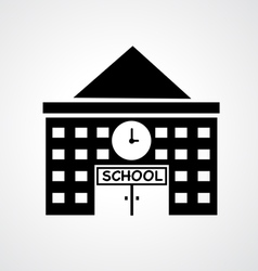 School building icon vector