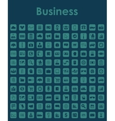 Set of business simple icons vector image vector image
