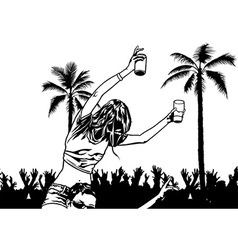 Tropical dance party vector