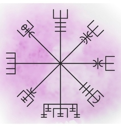 Vegvisir - the Magic Navigation Compass vector image