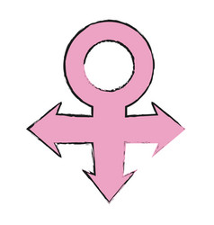Venus gender symbol icon image vector
