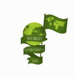 World environment day 5th june planet earth vector