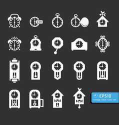 Icon clock black vector