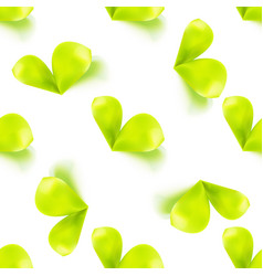 Seamless sprout leaves pattern vector
