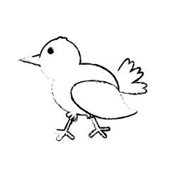 Bird romance concept sketch vector