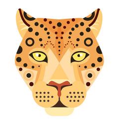 leopard head logo cheetah decorative vector image