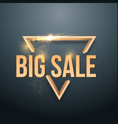 Big sale sticker with gold glitter effect vector