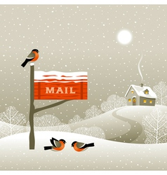 Mailbox on the forest edge vector image