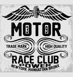 Newyork manhattan bronx motorcycle typography vector