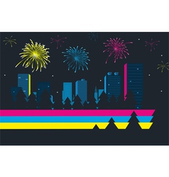 Celebration in the city vector image